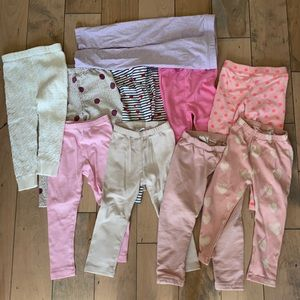10 pair designer girl leggings pants Zara crewcuts